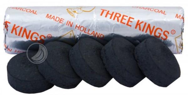 Three Kings Kohle - 33 mm - Rolle (10 Stück) - selbstzündend