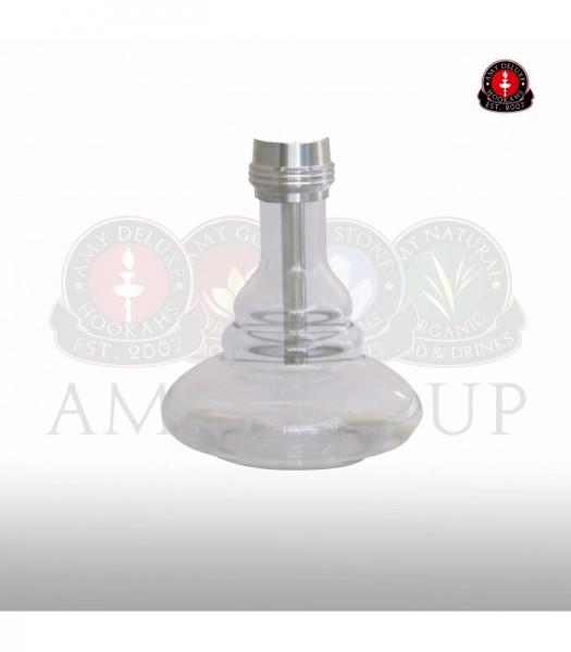 Glasbowl AMY Hammer Steel SS08 - clear