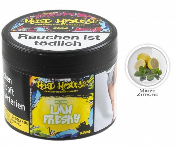 Mad Mouse Tobacco - Hi Tech Lmn Freshy - 200g