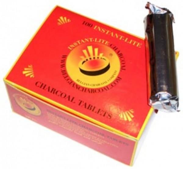 Instant-Lite Charcoal - 33 mm - Box (100 Stück) - selbstzündend