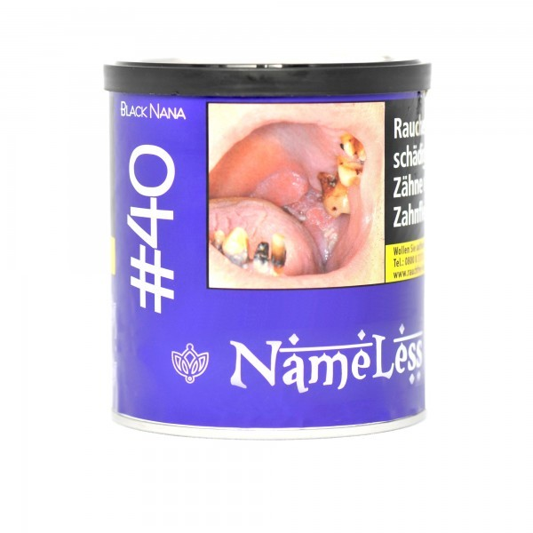 NameLess Tabak 200g - #40 Black Nana - No Shot