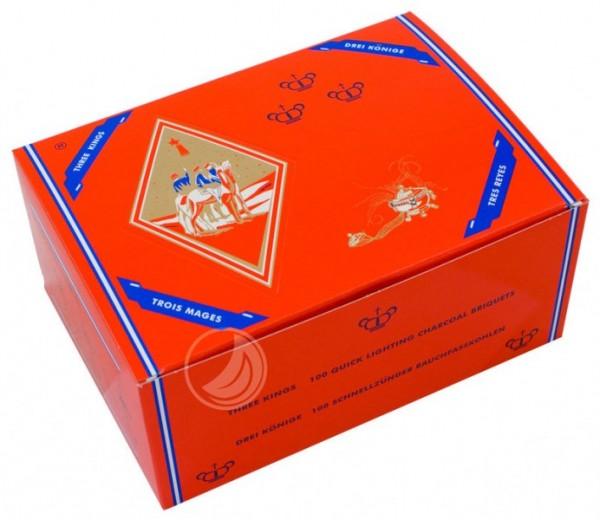 Three Kings Kohle - 40 mm - Box (100 Stück) - selbstzündend